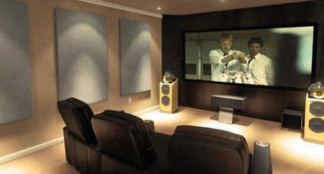 Residential home theatre rooms ideally have suitable acoustic treatment