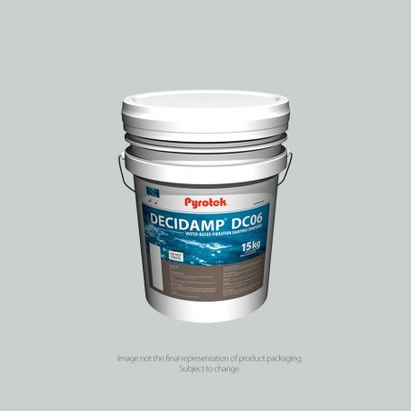 Decidamp® DC06 is a two-component water-based damping compound supplied in a single pail