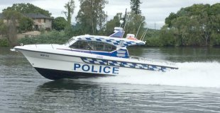 Soundproofed police vessel